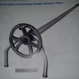 Enrouleur mobile télescopique grande largeur